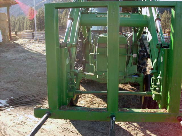 Custom Bale Spikes for a John Deer tractor